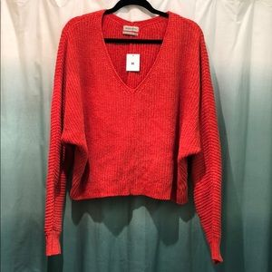 NWT UO Cropped Orange Chenille Sweater